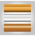abstract gold silver bronze metals icon image vector image
