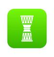 african drum icon digital green vector image