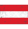 Austria flag grunge vector image vector image