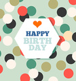 Background with happy birthday typography Invite vector image