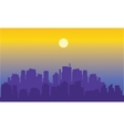 Beautiful city of silhouette vector image vector image