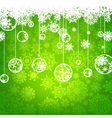 beautiful green christmas card vector image
