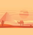 beautiful scene of nature peaceful desert vector image