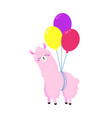birthday cartoon greeting card design vector image