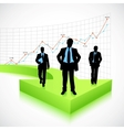Businessman on Arrow vector image vector image