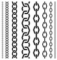 chains set of different scale unusual polygonal vector image