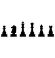 chess symbol design art leisure strategy sport vector image