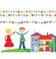 children flags vector image