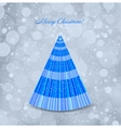 Christmas blue background with tree vector image vector image
