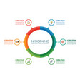 circle infographic design vector image