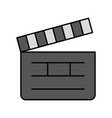 clapper board cinema icon vector image