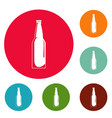 closed bottle icons circle set vector image vector image