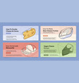 collection cheese banner landing page vector image