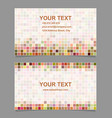 Colorful digital art mosaic business card template vector image vector image