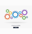 connected cogwheels creative ideas planning vector image