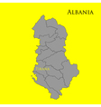 Contour map of Albania on a yellow vector image