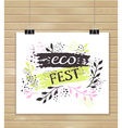 creative artistic background Art invitation Eco vector image