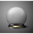 crystal ball for fortune tellers vector image vector image