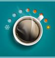 cup of coffee or tea like a temperature regulator vector image