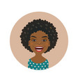 cute afro american woman happy facial expression vector image vector image