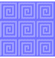 Design seamless blue labyrinth knitted pattern vector image vector image