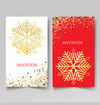 design template invitationnew year and christmas vector image