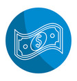 emblem bill dolar money vector image vector image