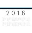 Estonian 2018 year calendar vector image vector image