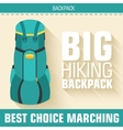 Flat colorful tourist backpack equipment vector image vector image