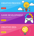 Flat design concept for creative process game vector image vector image