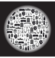 funeral icons set in circle eps10 vector image vector image