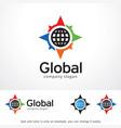 global logo template design vector image