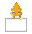 grinning with board shrimps on a character cartoon vector image