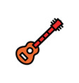guitar filled line icon vector image vector image