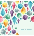 hanging geometric shapes corner pattern background vector image