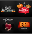happy halloween large set halloween postcards and vector image
