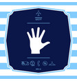 helping hand silhouette- icon graphic elements vector image