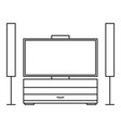 home cinema drawer icon vector image vector image