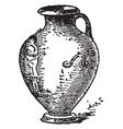 hydria is a water jaw its has one handles vintage vector image vector image