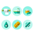 Hygiene Icons Flat Set vector image vector image