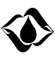 Icon with a drop of oil-1 vector image vector image