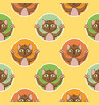 little brown cats seamless pattern vector image