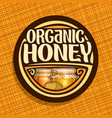 logo for organic honey vector image