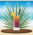 long island iced tea cocktail vector image