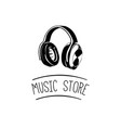 music headset logo design templateelement design vector image
