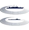 Naval fleet vector image vector image