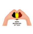 nayional day of belgium with two vector image