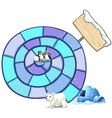 Puzzle game vector image vector image