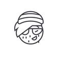 rasta emoji concept line editable concept vector image vector image