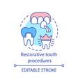 restorative tooth procedures concept icon vector image